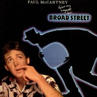 ...Harrison's former bass player didn't fare much bette. I wonder if Paul McCartney's confused expression comes from the fact he has no idea why he's wearing such a terrible shirt. This album, Give My Regards to Broad Street, is the soundtrack to Macca's self-indulgent and bewildering film of the same name.